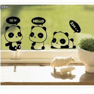 Panda Switch Wall Stickers